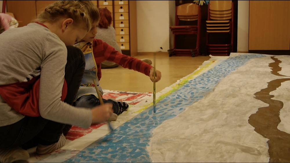 Diesterweg-Grundschüler malen ihre WELT