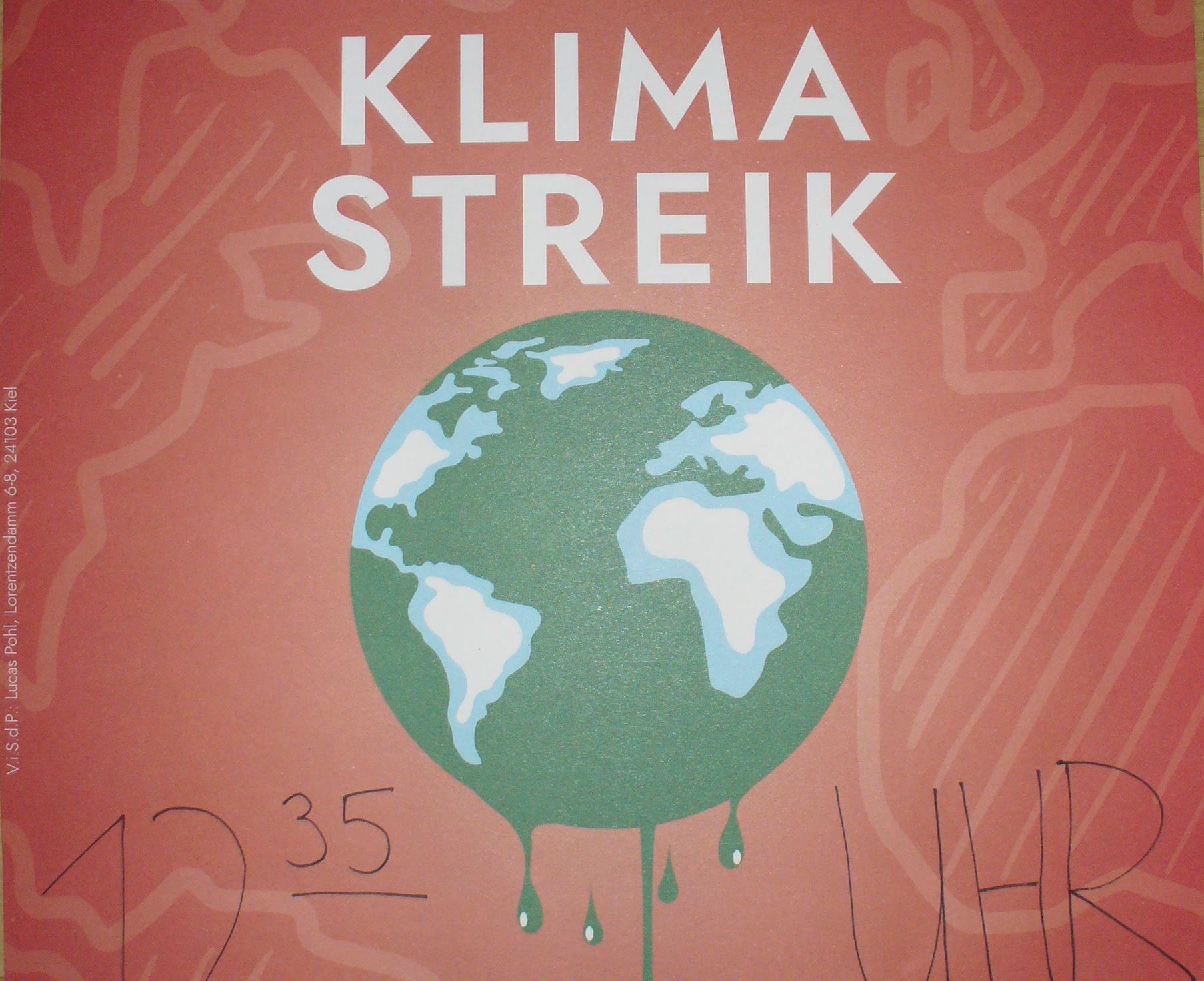 Klimastreik startet vorm Gymnasium