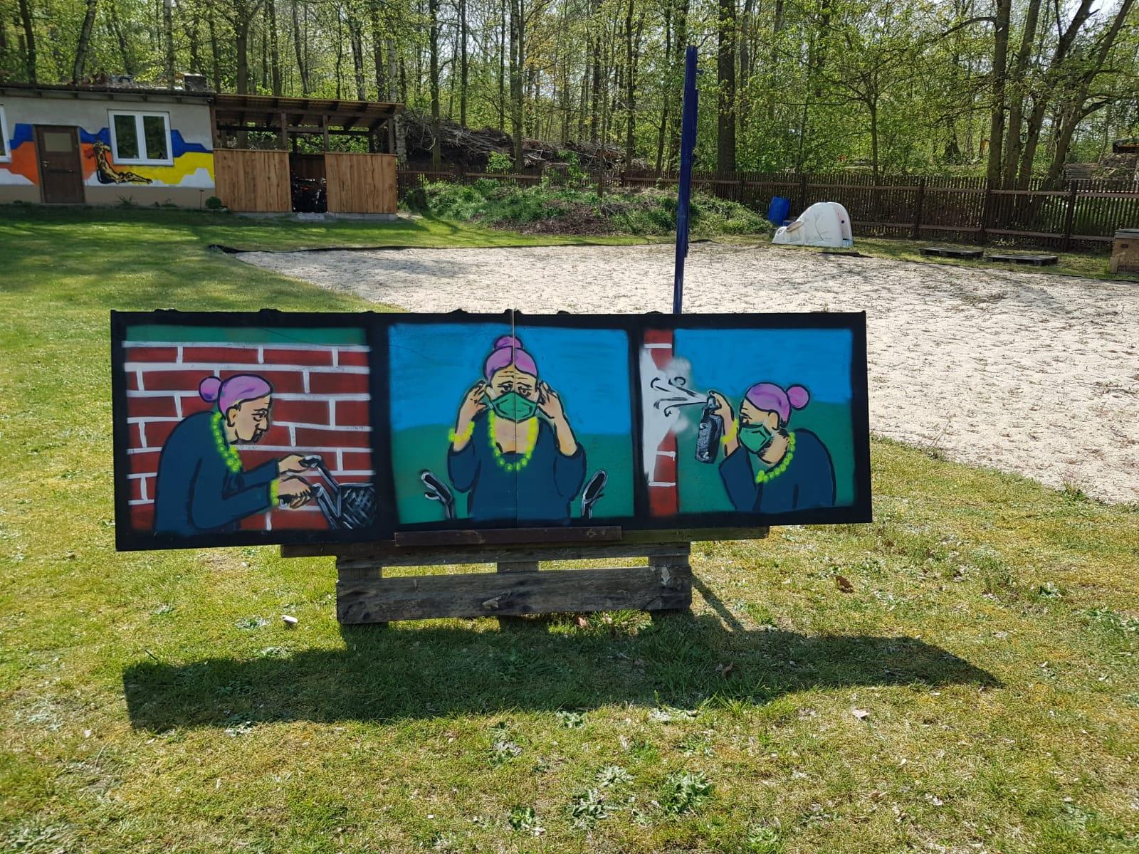 """Jugend-Kunstaktion """"Corona allein zu Haus"""""""
