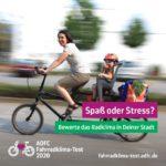 Endspurt beim Fahrradklima-Test 2020